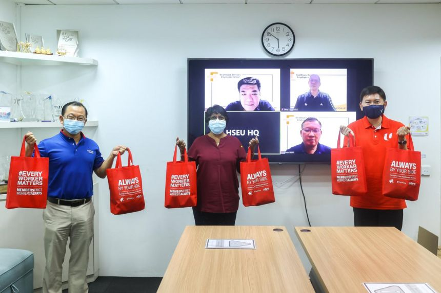 Care packs for healthcare workers